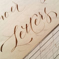 Flower City Letters modern calligraphy practice in walnut ink, Kecseg style pointed pen variation.