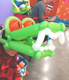 Amazing dragon balloon animal idea! We have plenty of talented balloon twisters who work with us at TMB! Such a good fun for events and parties