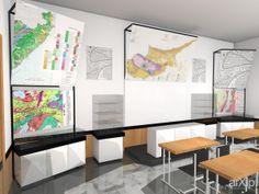 Проект музея минералогии: интерьер, минимализм, музей, художественная галерея, 30 - 50 м2, выставочный стенд #interiordesign #minimalism #museum #artgallery #30_50m2 #exhibitionstand arXip.com