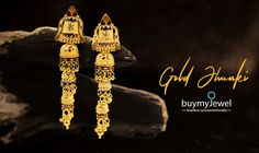 Season's hottest collection out now. Gold Mangalsutra Designs, Gold Earrings Designs, Gold Designs, Gold Drop Earrings, Jewellery Designs, Gold Jewellery, Bridal Jewelry, Gold Necklace, Blouse Patterns