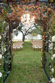 South Tampa Wedding Venue Tampa Garden Club   Secret Garden Inspired Wedding - Wedding Florist Apple Blossoms Floral Design