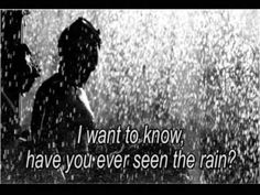 Have You Ever Seen Rain by Credence Clearwater Revival - JK NOTE: A Fear of Seaside Heights takes place during a long, hot, dry summer when rain-themed songs dominate the airwaves. Music Mix, Sound Of Music, Kinds Of Music, My Music, Creedence Clearwater Revival, Music Songs, Music Videos, Reggae Music, Trauma