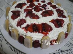 Torta Fragole (Strawberry Cake)  Τόρτα Φράγκολε (Τούρτα με Φράουλες) http://www.kopiaste.info/?p=288  #ΤούρταΓενεθλίων #BirthdayCake #Strawberries