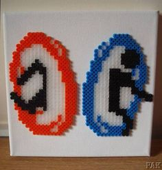 Portal Canvas Wall Art perler beads by karen3367