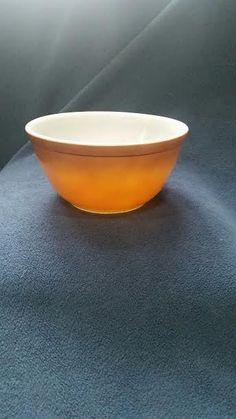 PYREX 402 Old Orchard 1 1/2 Qt Mixing Bowl #8 #Pyrex