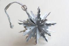 DIY Foldable 3D Snowflake Ornament