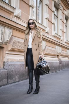 camel and leather