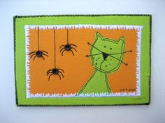 Spiders for Me?   Flickr - shared by mamacjt Cute mug rug