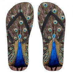 Peacock Flip Flops $13.95