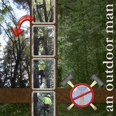 Outdoor Man Digital Scrapbooking Layout by Leslie Grassi