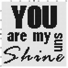 Knitting Pattern For You Are My Sunshine Blanket : Use These Handy Alphabet Charts for Knitting Words or ...