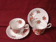 Royal Albert. China Dinnerware England Centennial Rose set 2 cup and saucer