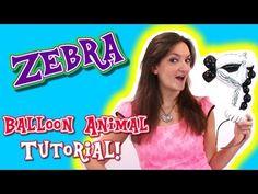 ▶ Zebra Balloon Animal Tutorial - Balloon How To's with Holly! - YouTube