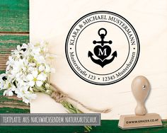 Adressstempel - Adressstempel   Familienstempel   52 - ein Designerstück von Dr_Grazer_und_Co bei DaWanda Place Cards, Place Card Holders, Etsy, Craft Gifts, Patterns