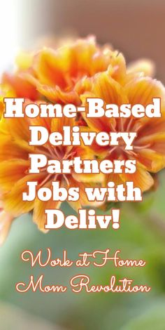 Home-Based Delivery Partners Jobs with Deliv! / Work at Home Mom Revolution