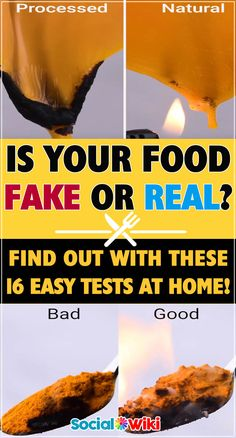 Is your food fake or real? Find out with these 16 easy tests at home! Real Food Recipes, Healthy Recipes, Food Test, Fake Food, Slow Cooker Beef, Food Facts, Special Recipes, Cooking Tips, Helpful Hints