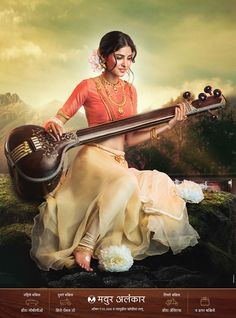 "Temple Jwellary Campaign ""Goddess""Client - Mayur AlankarAgency - Seagull AdvertisingCreative Team Shailesh Meshram , Nitin Shendage , Apoorva SohaniCore TeamPhotographer - Vijay PowarModel - Aparna JachakMake Up ,Hair & look Design - Prajakta Ma… Indian Women Painting, Indian Art Paintings, Indian Goddess, Goddess Art, Goddess Makeup, Portrait Photography Poses, Creative Photography, Indian Photography, Saraswati Goddess"