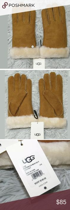 bb322a75b2a31 UGG Chestnut Sheepskin Glove With Fur Lining UGG Womens Chestnut Sheepskin  Glove With Fur Lining &