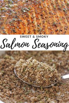 This Sweet & Smoky Salmon Seasoning is the perfect blend of flavors to complement grilled or baked salmon. Plus, it's made from pantry staples you likely have on hand! Let cooking magic show you how to cook. Dry Rub Recipes, Fish Recipes, Seafood Recipes, Cooking Recipes, Healthy Recipes, Smoked Salmon Recipes, Cooking Games, Recipies, Homemade Spices