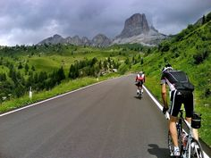 Cycling across dramatic landscape of Dolomites is a dream of any serious cyclist - Italy