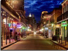 Bourbon Street [New Orleans, Louisiana] | Travel Photos | Louisiana | Travel | Beauty