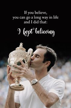 Roger Federer after winning the record-breaking 8th Wimbledon title and his 19th Grand Slam overall