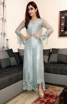 Designer Dresses in beautiful colors Pakistani Fancy Dresses, Pakistani Fashion Party Wear, Pakistani Wedding Outfits, Pakistani Dress Design, Indian Dresses, Indian Outfits, Indian Clothes, Walima Dress, Shadi Dresses