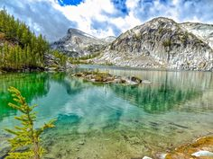 Ready or not. Sprite Lake, Chelan County, Washington - Alpine lake above Beautiful Places To Visit, Oh The Places You'll Go, Places To Travel, Chelan Washington, Yakima Washington, Washington State, Evergreen State, Oregon Travel, Weekend Trips