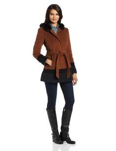 Ellen Tracy Outerwear Women's Color Blocked Coat with Fox Trimmed Hood, Hazelnut Multi, 4 Ellen Tracy http://www.amazon.com/dp/B00DJPQAXO/ref=cm_sw_r_pi_dp_TZssub0R18B60