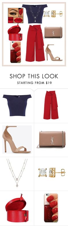 """what a pretty one!"" by maryfahmy ❤ liked on Polyvore featuring Coast, TIBI, Yves Saint Laurent and Louis Vuitton"