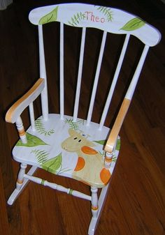 Childrens Rocking Chair Giraffe. $159.00, Via Etsy.