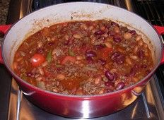 Flavorful Low Fat Chili with Extra-Lean Beef and Beans