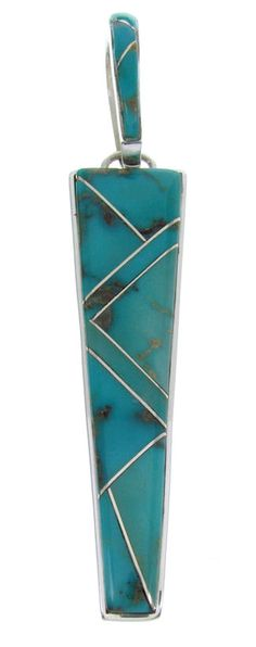 Sterling Silver And Turquoise Southwest Pendant AW70457 http://www.silvertribe.com/