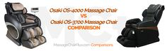 We compare the Osaki OS-3700 and the OS-4000. Massage chair plus is going to make your massage chair decision so much easier.   MCP   Massage chair Plus   Massagechairplus.com