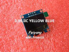 "1 cái 0.96 ""màu vàng xanh 0.96 inch module OLED New 128X64 LCD OLED LED Hiển Thị Module Cho Arduino 0.96"" IIC I2C Giao Tiếp"