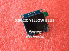 "1 шт. 0.96 ""желтый синий 0.96 дюймов OLED модуль Новый 128X64 OLED LCD LED Дисплей Модуль Для Arduino 0.96"" IIC I2C Общаться"