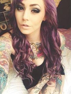 Beautiful #hair #color #tattoos