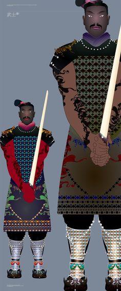 terracotta warrior illustration created by Herry ye