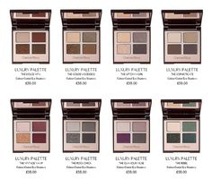 Charlotte Tilbury Eyeshadow Palettes. I want  maybe golden goddess, vintage vamp, and dolce vita