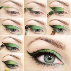 How to DIY Green Fairy Smokey Eye Makeup tutorial and instruction. Follow us: www.facebook.com/fabartdiy