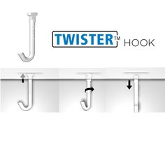 Artiteq Twister Hook is made for simple light hanging projects with less than max weight. Works with allmost all Artiteq Rails. Hanging Wire, Hanging Lights, Picture Rail Hanging, Wooden Easel, Simple Pictures, Dark Wood, Hooks, Pendant Lights, Dark Hardwood