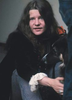 Janis and her dog.