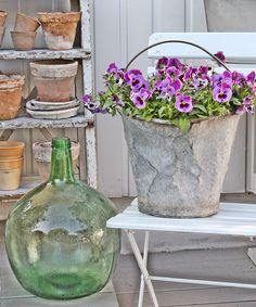 just think vintage, romantic garden wedding, using lots of galvanized containers with plants or flowers(i like using plants cause they don't die u can plant them all at the couples new home. but displaying with vintage and antique pieces gives originality. you can buy pieces from thrift stores to yard sales or you can rent.  but its so chic these days... comments:walkingonsunshine:)   VIBEKE DESIGN: To be continued.....