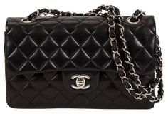 Chanel Black Lambskin Double Flap Bag