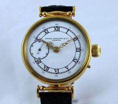 PATEK PHILIPPE & Co Men's Luxury Antique Watch Gold Plated Body SWISS Made