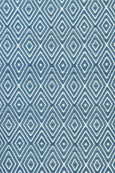 This indoor/outdoor rug would work well in a nautical themed room with blue and white accents.