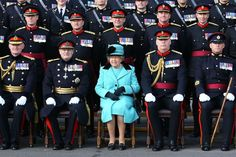 Britain's Queen Elizabeth II celebrates the Corps of Royal Engineers' 300th anniversary on October 1... - Gareth Fuller/AFP/Getty Images