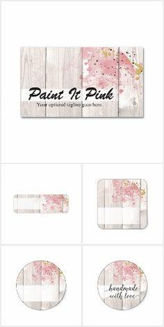 Paint It Pink on @zazzle  #Blush #Pink #Gold #Paint #Artist #Painter #NailPolish #Rustic #Wood #Marketing #SmallBusiness #Branding #Printable #Custom #Personalized #Zazzle