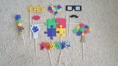 Autism Awareness Photo Booth Props by CaptivatingCreation3 on Etsy