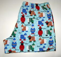 Handmade Sheep Boxer Shorts.  Men's Flannel by SewnWithPassion